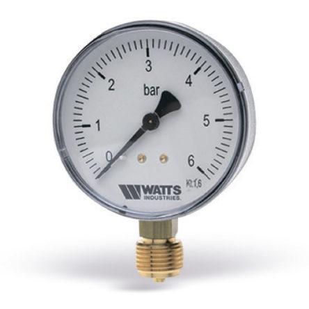 Манометр радиальный F+R200 G1/4″ 63мм (0- 6bar) Watts