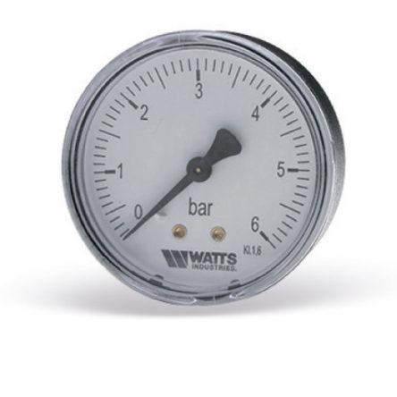 Манометр аксиальный F+R100 G1/4″ 63мм (0- 6bar) Watts