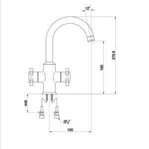 Р0121 Смеситель для раковины Aviator 0121FN Chrome