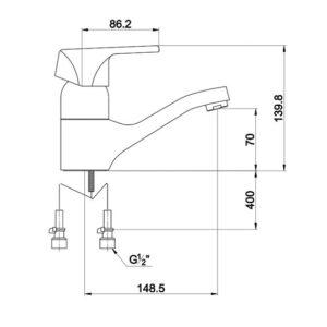 Р0151 Смеситель для раковины Nordic 0151 F-15 Chrome