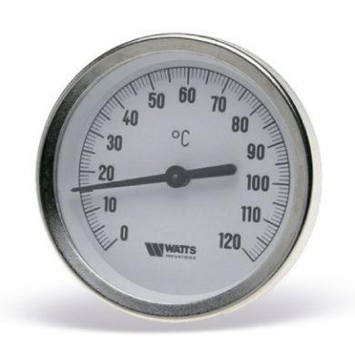 Термометр биметаллический с погружной гильзой F+R801 OR 63mm 0-120°C Watts(50/1)
