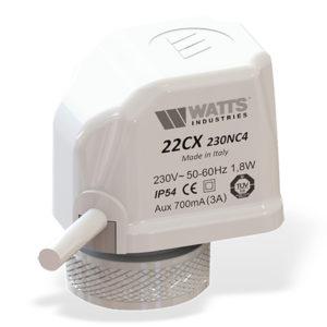 Электротермический сервопривод 22СХ, Н.О. 230V/2,5 Вт. Watts