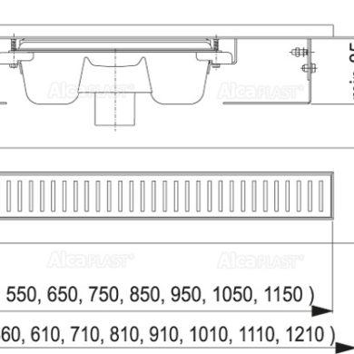 APZ1001-1050 Водоотводящий желоб(вертикальный)