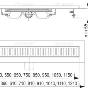 APZ101- 750 Водоотводящий желоб со сниженной высотой монтажа