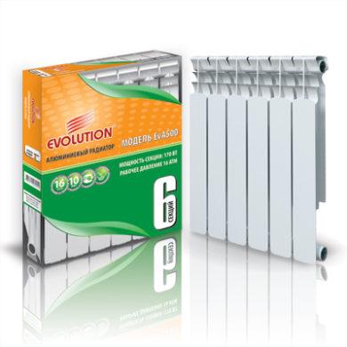 Радиатор алюминиевый EvA500 12 секций