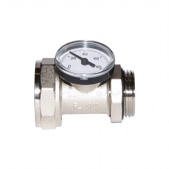 """Муфта для термометра в комплекте с термометром 1"""" (492 BC) Itap"""