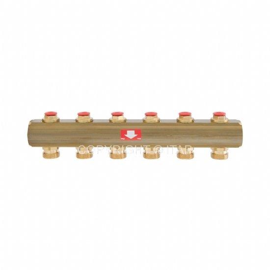 """Коллектор 1""""х3/4"""" с запорными клапанами (925) (Itap)"""
