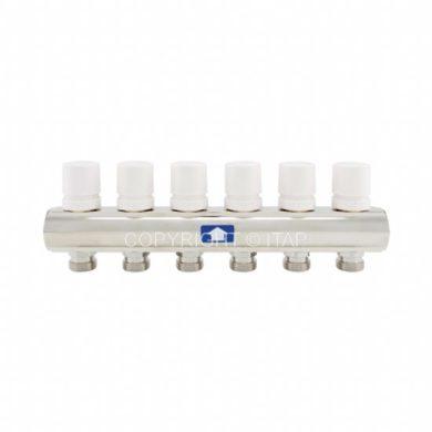 """Коллектор 1""""х3/4"""" с отсеченными клапанами под электроприводы и ручками (935)"""