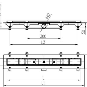 Водоотводящий желоб 350mm Basic глянец