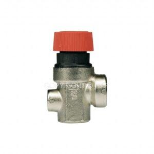 """Предохранительный клапан 1/2"""" 1,5bar (368М) с выходом для манометра Itap"""