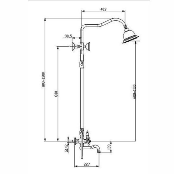 Д1290 Смеситель с вернем душем Nelson SX-1290_00 Chrom (3х режимная)2
