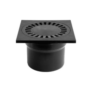 DNS110P 110 пластик прямой черный 150х150