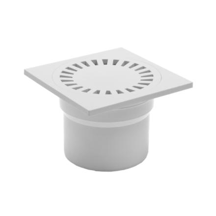 DNS110P-b 110 белый пластик прямой 150х150