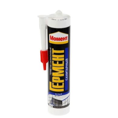 Герметик Момент Гермент 280 мл санитарный (белый) (1)