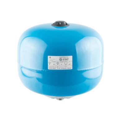 Гидроаккумулятор STOUT вертикальный 24 л, М1″ синий