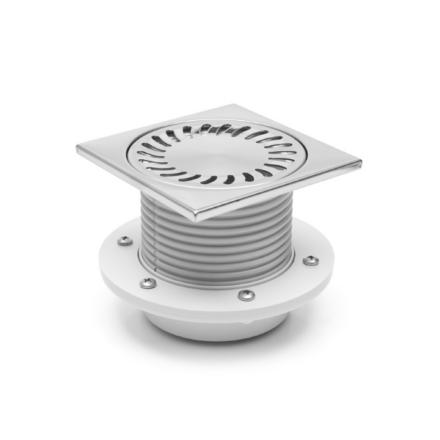 PV50N-PR4 50 нерж прямой регулир 150х150 с фланцем