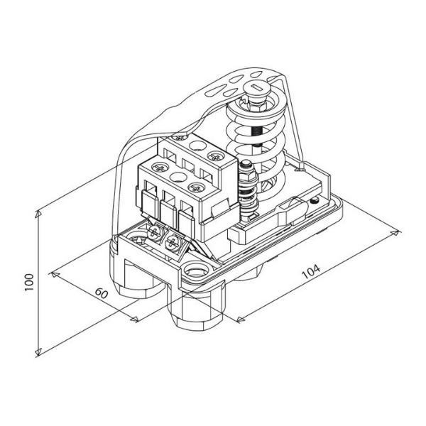 Реле давления PM-5G Italtecnica (1_4″ накидная гайка) (2)