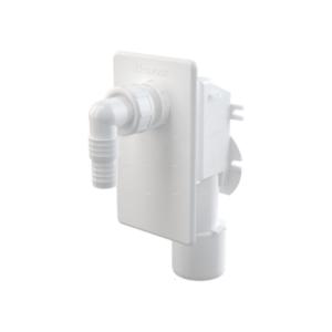 Сифон для СМА под штукатурку белый AlcaPlast APS4 (1)