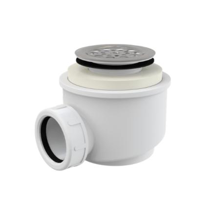 Сифон для душевого поддона с нерж.решеткой d50 mm (A 46)