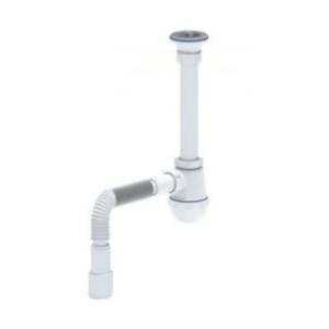 Сифон для умыв с гибкой трубой АНИ Пласт C1015