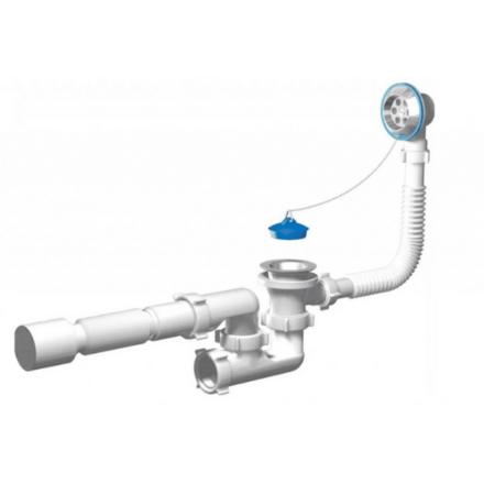 Сифон для ванны 1 1_2_ регулируемый с гибк.трубой х50 АНИ Пласт (П)