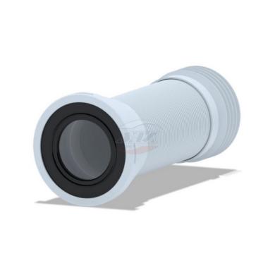 Удлинитель (ГОФРА) гибкий для унитаза (231-500 мм) с мет. спиралью