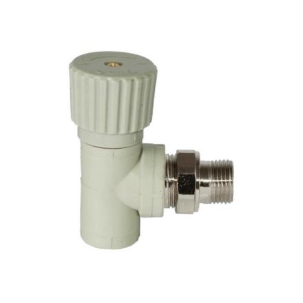 Вентиль для радиаторов угловой (серый цв.) TEBO