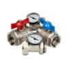 Комплект прямых шаровых кранов с термометрами 1