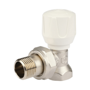 Клапан ручной терморегулирующий, угловой STOUT