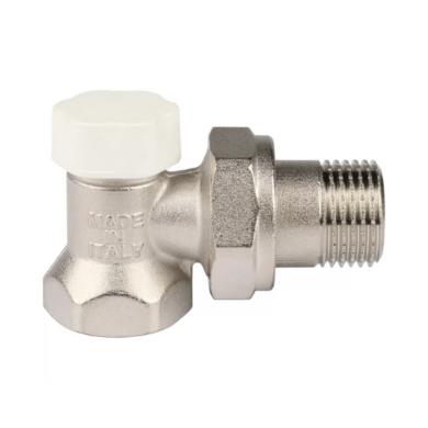 Клапан запорно-балансировочный, угловой STOUT