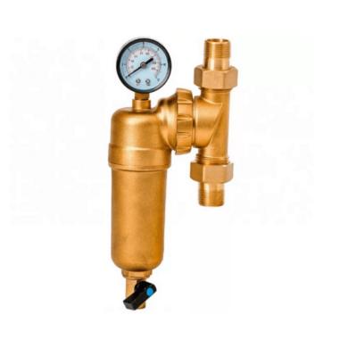"""Фильтр свободного вращения с манометром 1_2″ для горячей воды """"VIEIR"""""""