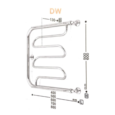 Полотенцесушитель ZIGZAG модель Dw