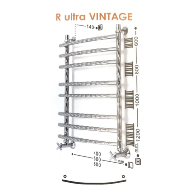 Полотенцесушитель ZIGZAG модель R ULTRA VINTAGE