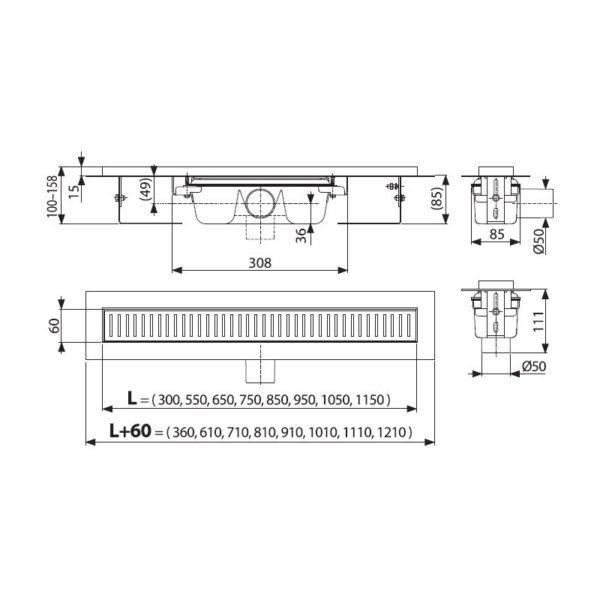 Водоотводящий желоб APZ1- 850 Alca2