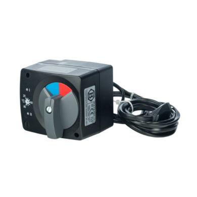 Сервопривод для смесительных клапанов с датчиком для регулировки температуры, AC 230V