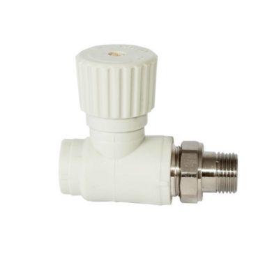 Вентиль для радиаторов прямой белый