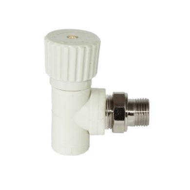 Вентиль для радиаторов угловой белый